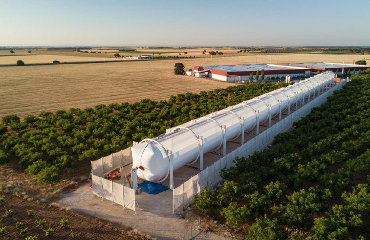 HELIOVIS successfully commissioned the world's biggest solar collector based on inflatable plastic films